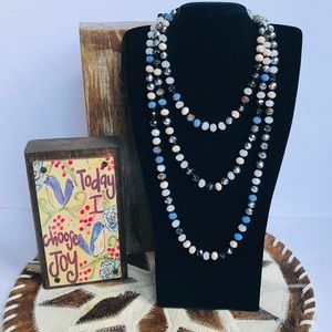 Beautiful Hand Knotted Beaded Wrap Necklace